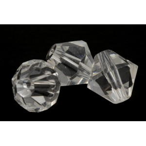 BICONE DE VERRE CLAIRE TRANSPARENT 10MM